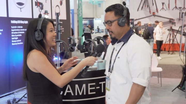 CAME-TV Debuts Wireless Duplex Headsets CAME-WAERO at NAB Show 2019